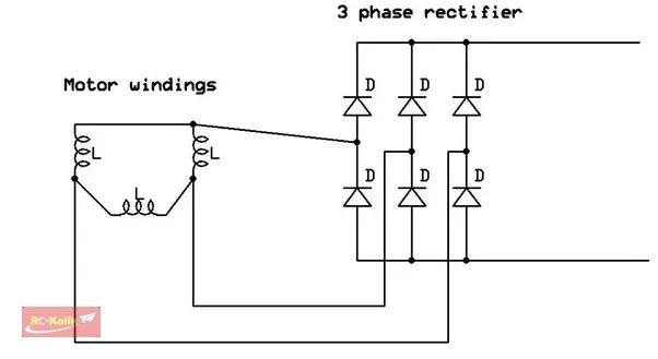 Fırçasız motordan düzgün DC voltage almak için basit bir devre